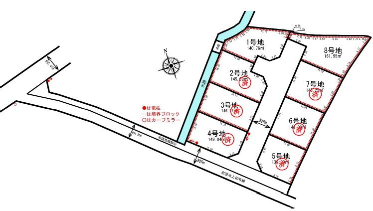 売地 3期保城 8区画