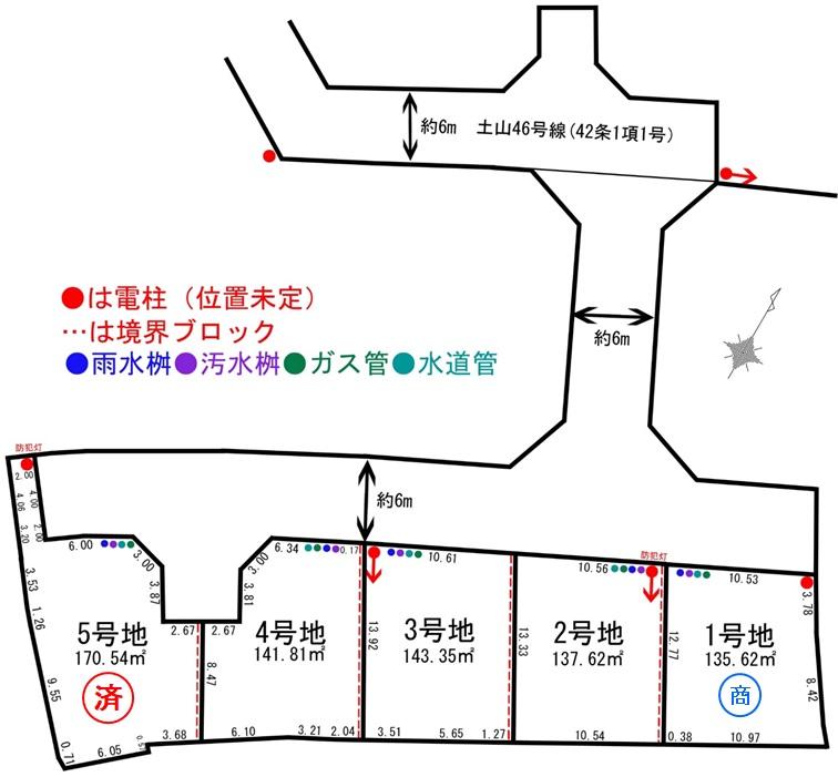 売地 8期平岡町土山 5区画